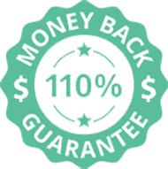 110 percent money back guarantee